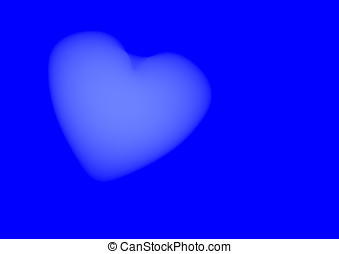 Cloudy Heart - Cloudy heart on heavy blue background