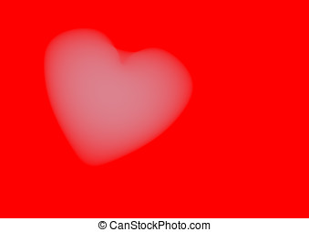 Cloudy Heart - Cloudy heart on red background