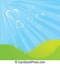 Cloudy Heart shapes