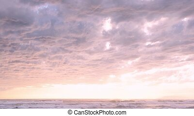 Cloudy italian seascape - Cloudy seascape view in Viareggio,...