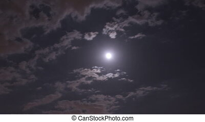 Cloudy Moon Timelapse - Nighttime time lapse of clouds...