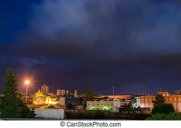 cloudy night in Sassari
