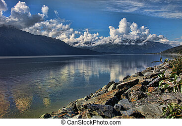 Cloudy Reflections on Turnagain Arm