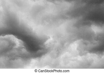cloudy sky before the rain