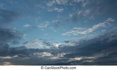 Cloudy Sky High Definition Time Lapse - Cloudy sky high...