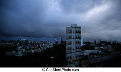 cloudy sky in the city of salvador