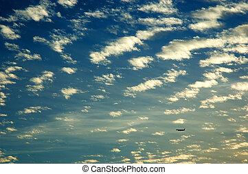 Cloudy sky on sunset