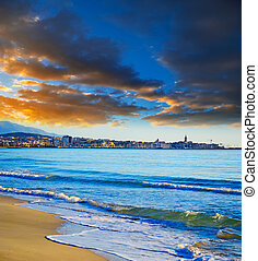 cloudy sky over Alghero at sunset