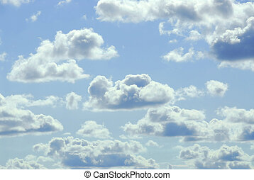 Cloudy sky - Pale cloudy sky background