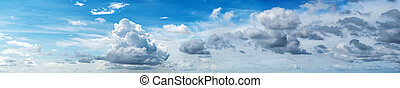Cloudy sky panorama. Summer background