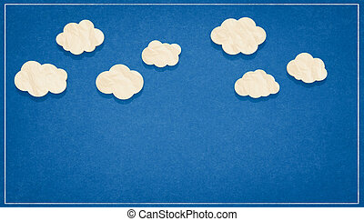 cloudy sky paper