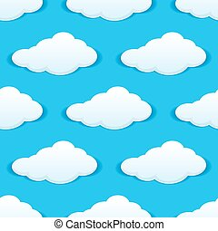 Cloudy sky seamless pattern