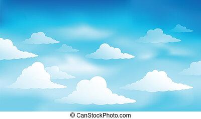 Cloudy sky theme image 1