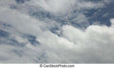 Cloudy Sky Time Lapse High Definition - Cloudy blue summer...