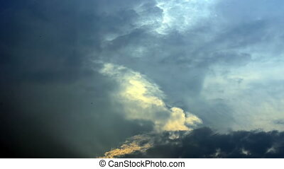 Cloudy sky, time lapse