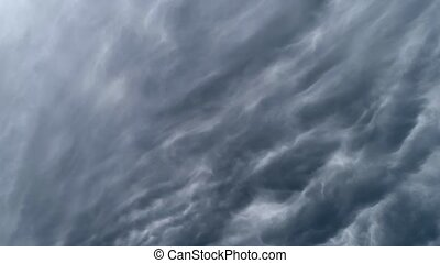 Cloudy sky timelaps. Biconvex clouds, which are also called...