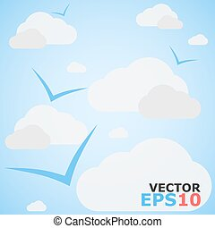 Cloudy Sky Vector Background