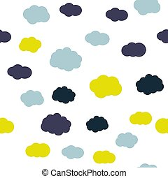 Cloudy sky vector seamless pattern texture