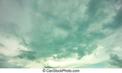 cloudy sky with heavy clouds, time laps