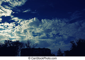 Cloudy stormy dramatic sky background