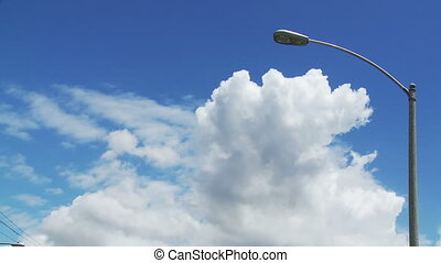 Cloudy Streetlamp Time-lapse