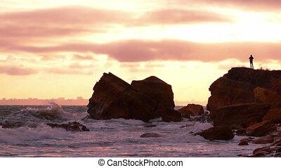 Cloudy Sunset Sky over the Sea