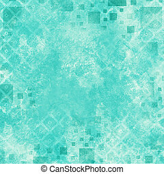 Cloudy Teal Abstract Background Illustration with Squares and Dots