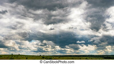 Cloudy time lapse Cumulus Cloud Billows Time Lapse, video...