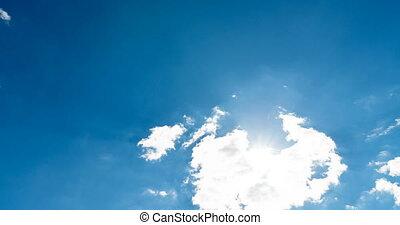 Cloudy time lapse Cumulus Cloud Billows Time Lapse.