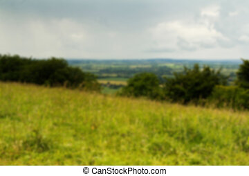 Cloudy view over the Chilterns in Buckinghamshire Out of...