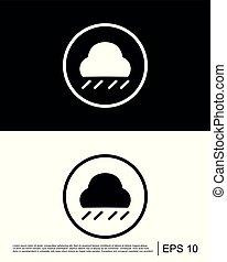 Cloudy weather  rain  rainfall  rainstorm  rainy weather icon