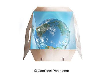 Cloudy world in a drop box