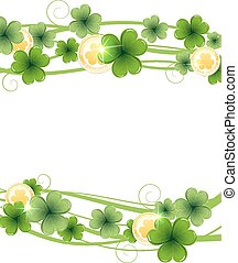 Clover and gold coins