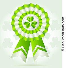 Clover award on St. Patric K`s Day