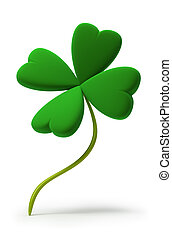 clover - Clover by St. Patrick's Day. 3d image. Isolated ...