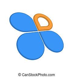 Clover concept of logo on white background
