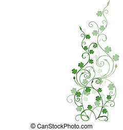 Background with clovers foliage for St. Patrick's Day