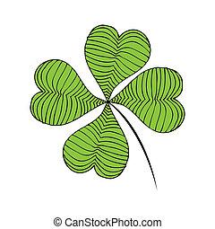 Clover green illustration
