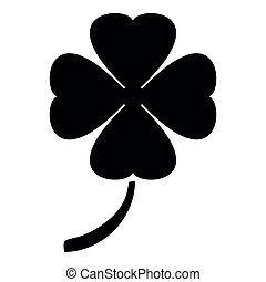 Clover icon black color illustration flat style simple image