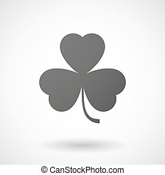 clover  icon on white background