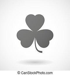 clover icon on white background