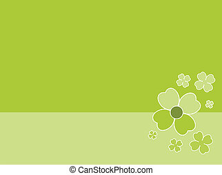 Clover in green background illustration
