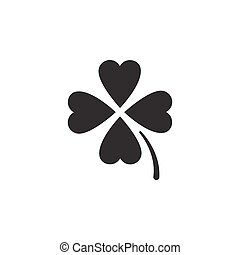 Clover. Isolated icon. Glyph vector illustration