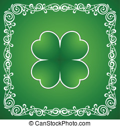 St. Patricks Day - Clover leaf and ornamental element...