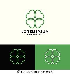 clover leaf four logo vector download