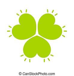 Clover leaf green icon illustration
