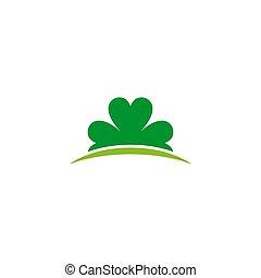 Clover leaf icon logo design vector template