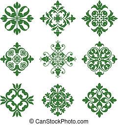 Clover Leaf Icons - A series of symmetrical leafy design ...