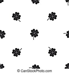 Clover leaf pattern seamless black