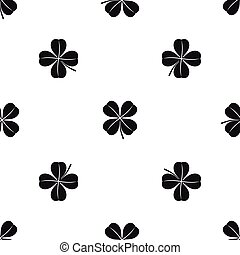 Clover leaf pattern seamless black